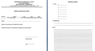 format notulen dan berita acara rapat dinas