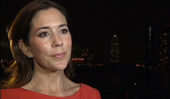 Princess Mary wore HUGO BOSS Hillary Dress. Princess Mary attended the launch event in New York