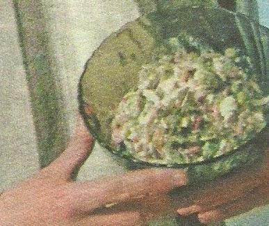 """Состав продуктов и способ приготовления салата """"Морской"""""""