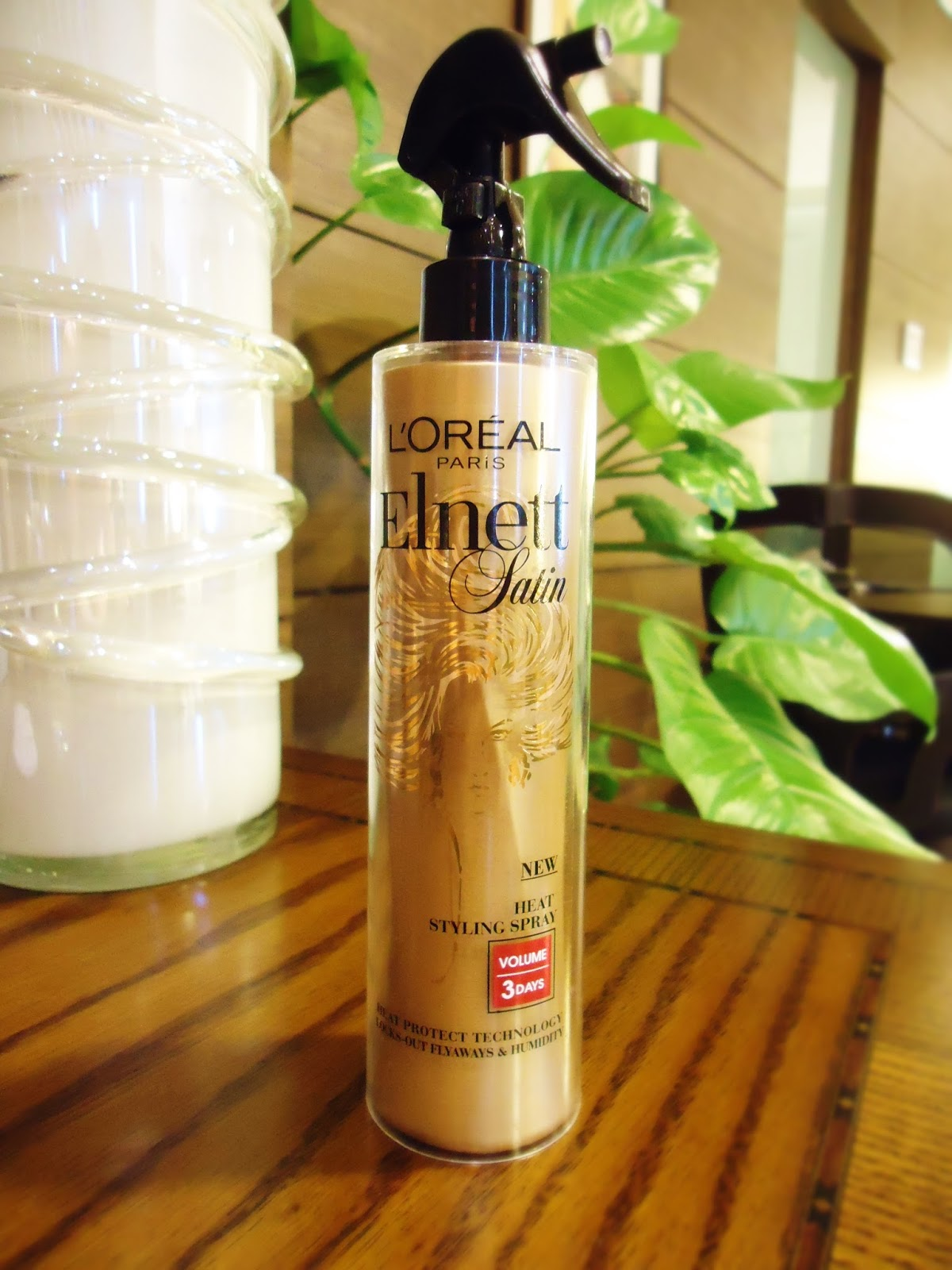 Loreal Elnett Satin Heat Protect Styling Spray 'Volume'