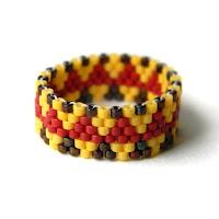 купить этнические украшения из бисера кольцо в этно стиле из бисера