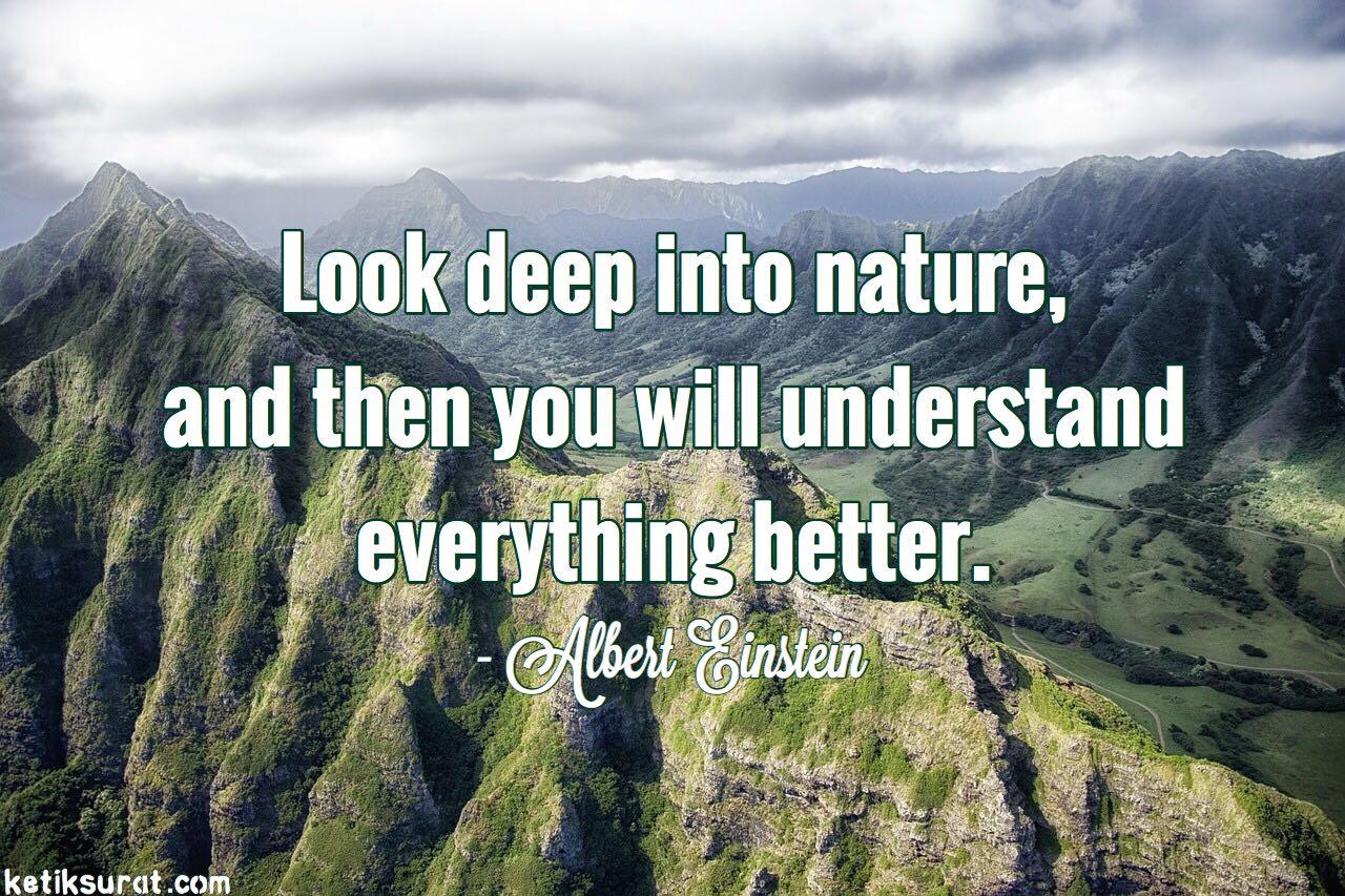 29 Quotes Bahasa Inggris About Nature dan Artinya  Ketik