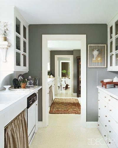 De andar por casas gama de grises para tus paredes - Salones pintados en gris ...
