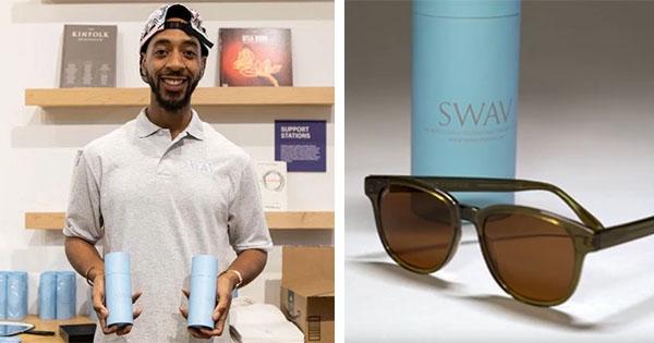 Isiah Fowler, founder of SWAV Eyewear