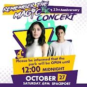 Enchanted Kingdom celebrates 23rd Anniversary with  Sarah G, James Reid and many more