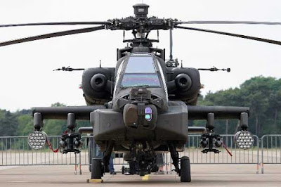 Apache and Chinook Helicopter