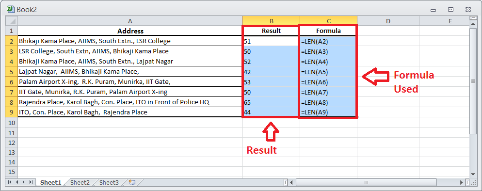 Excel Tips in MS Excel