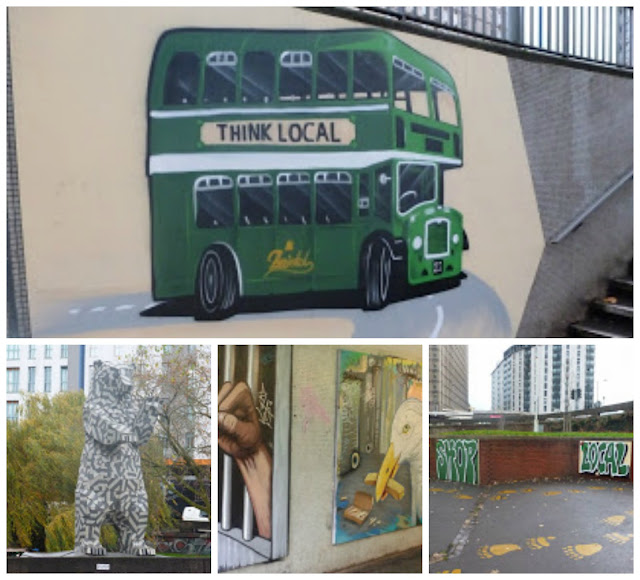 A collage of Bearpit art, Bristol