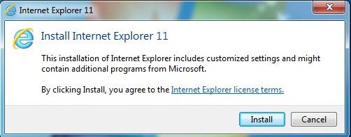 تثبيت متصفح انترنت اكسبلورر