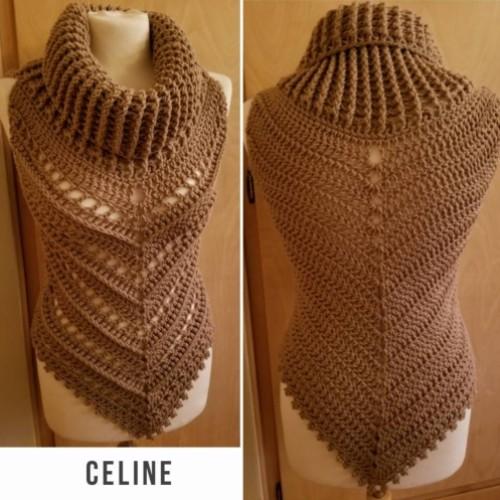 Celine Cowl Neck Vest Pattern