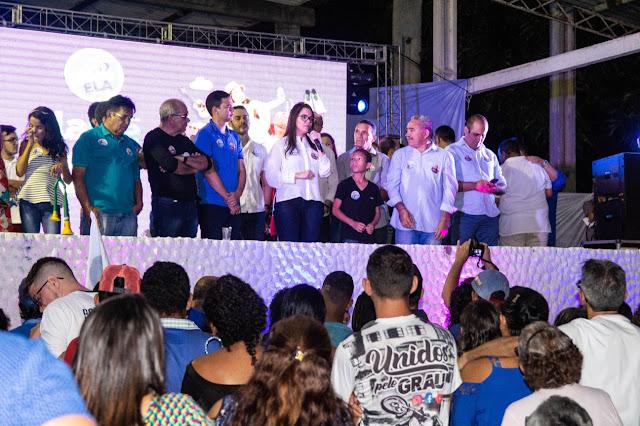 Resultado de imagem para Multidão prestigia o lançamento da candidatura de Elaine Neves em Extremoz