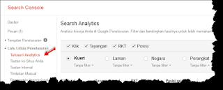 cara melihat nilai CTR atau RKT artikel postingan blog anda