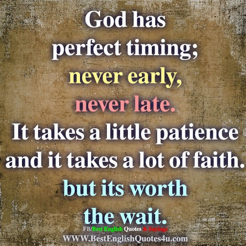 God Has Perfect Timing Best English Quotes Sayings