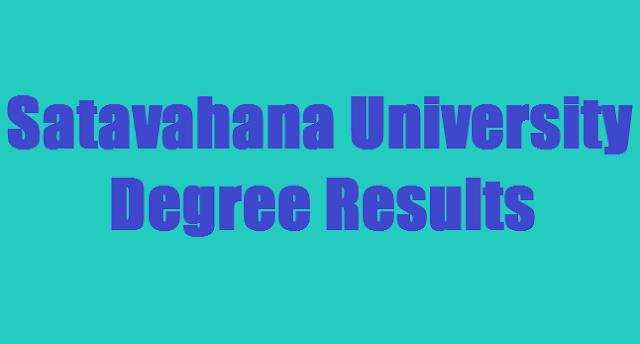 Satavahana University Degree Results,UG Results,Satavahana University results