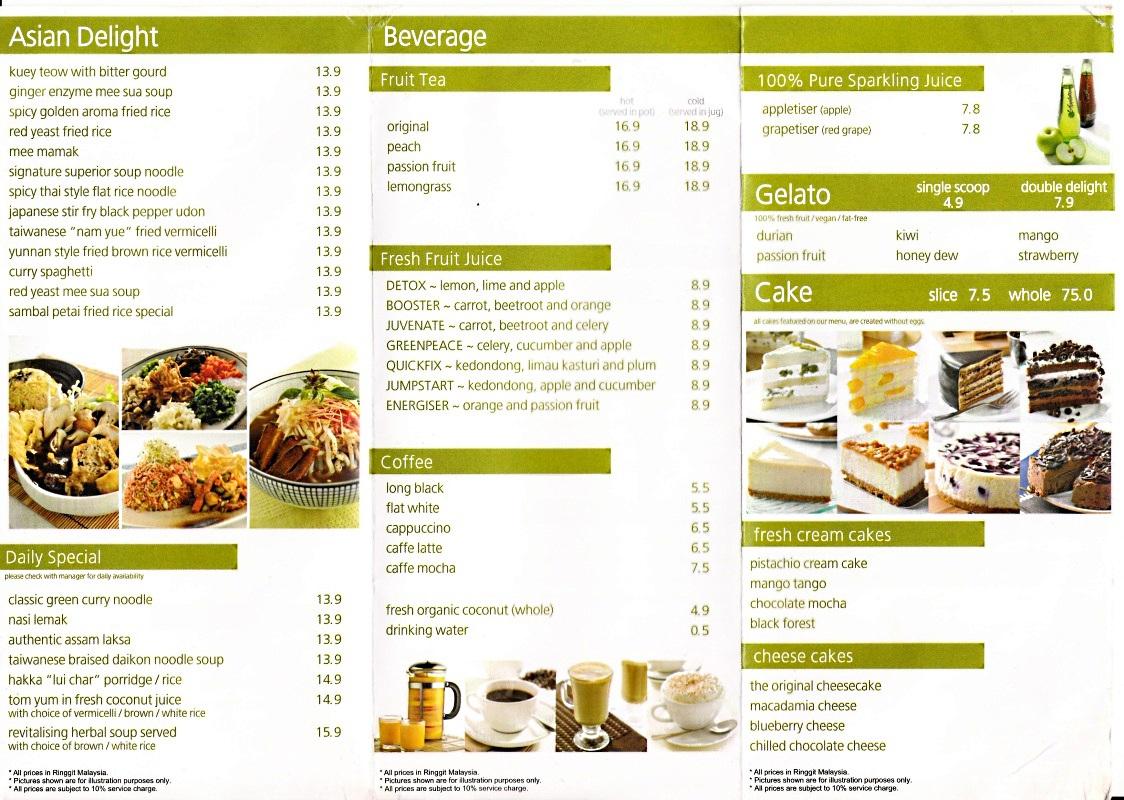 Secret Recipe Vegetarian Cake Malaysia