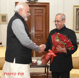 PM Modi greets President on the eve of New Year