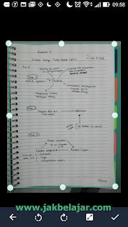 Tampilan hasil scan dokumen menggunakan CamScanner