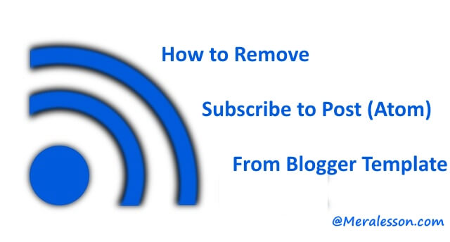 how to remove feed post links in blogger
