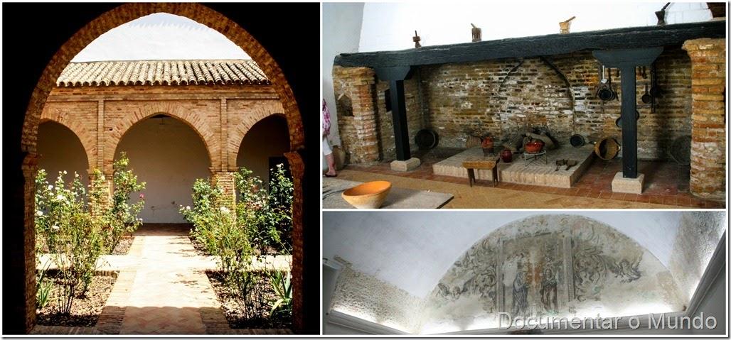 Claustro mudéjar, cozinha e coro baixo, Mosteiro de Santa Clara, Lugares columbinos, Moguer, Espanha