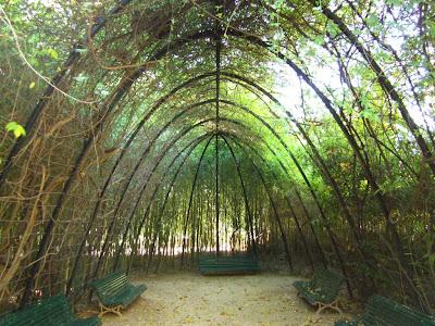 Parabolic pérgola in Pedralbes gardens