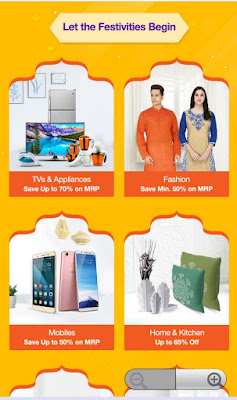 Hurry up! Paytm mall festive sale offer live now. Get 50% to 70%discount and cash back offer.