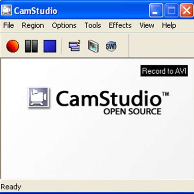 interfaccia di camstudio che serve per registrare schermate video windows