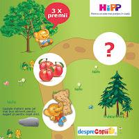 Castiga un HiPPofant de plus, o jucarie pernuta HiPP, o cutie de HiPP Biscuiti cu mar pentru copii