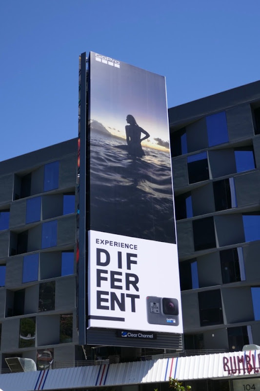 GoPro Experience Different surfer billboard