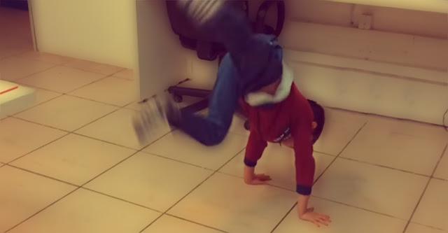 Imagem do vídeo do meu filho dançando hip hop