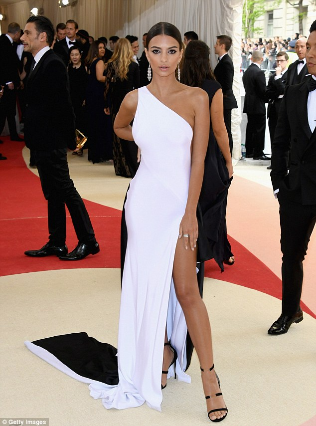 Emily Ratajkowski goes slinky for the Met Gala 2016