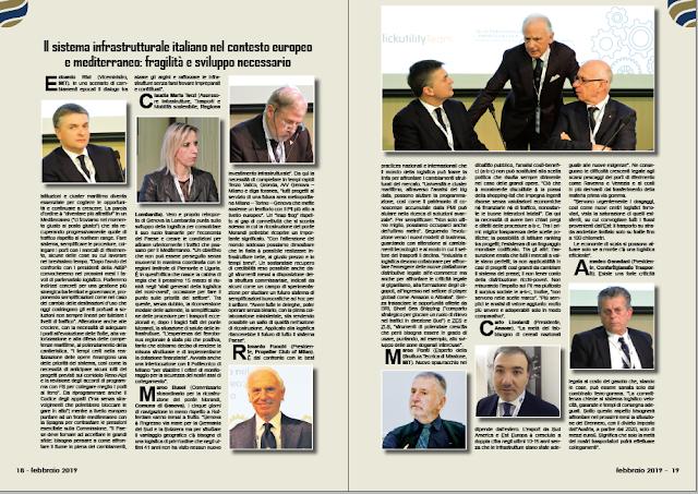 FEBBRAIO 2019 PAG. 18 - Il sistema infrastrutturale italiano nel contesto europeo e mediterraneo: fragilità e sviluppo necessario