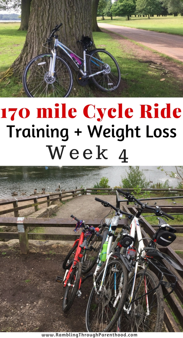 170 mile Cycle Ride - Training and Weight Loss - Week 4 Update