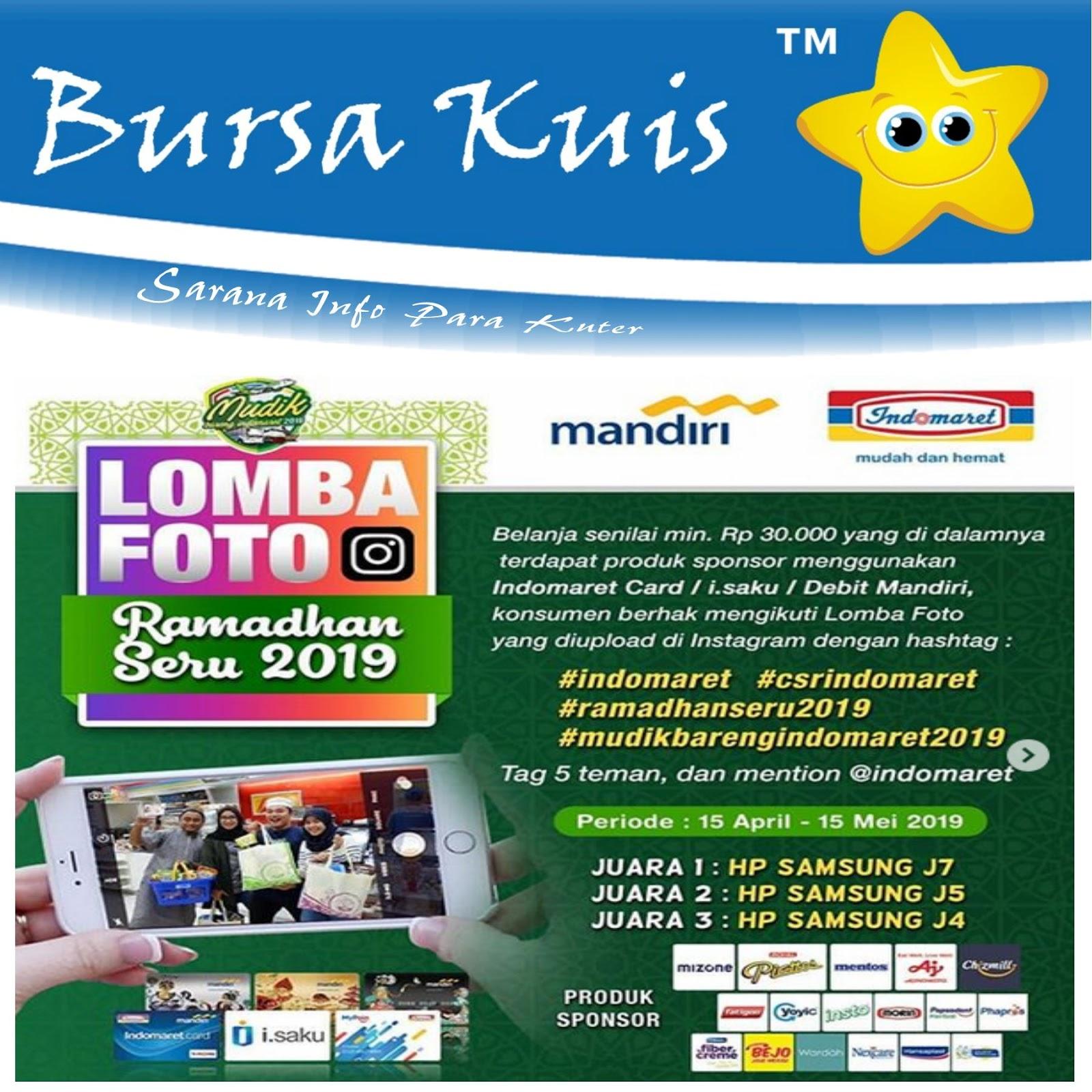 Kuis Lomba Foto Indomaret Ramadhan Seru 2019 Berhadiah Smartphone ...