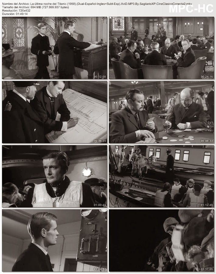 La Última noche del Titanic | 1958 | A Night to Remember