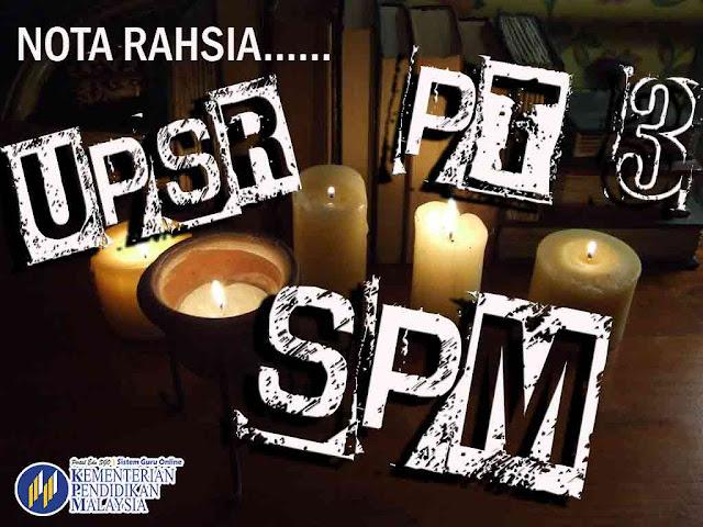Nota Rahsia Skor Cemerlang UPSR, PT3, SPM versi HOT 2016
