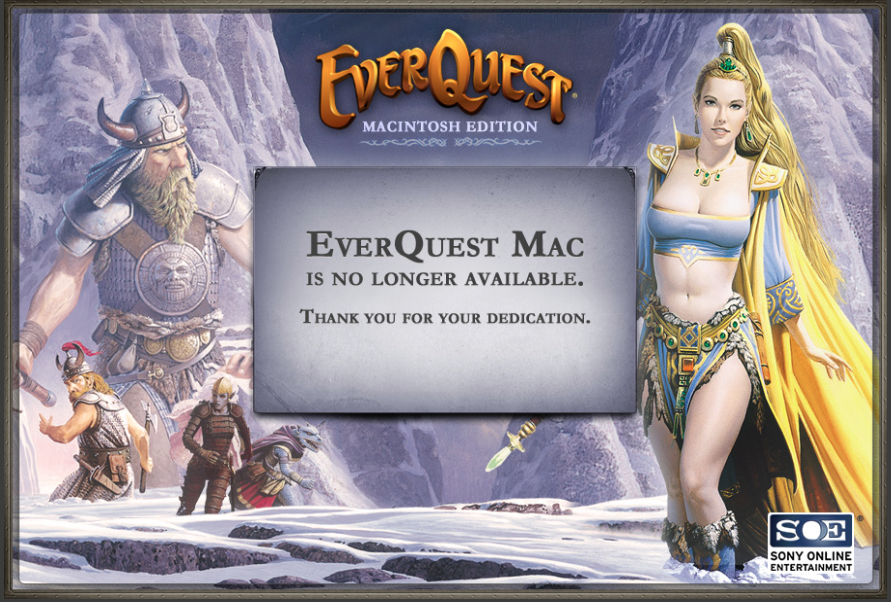 World server is down ! | EverQuest Next On Mac