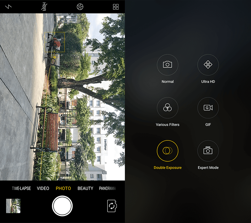 Camera interface and modes