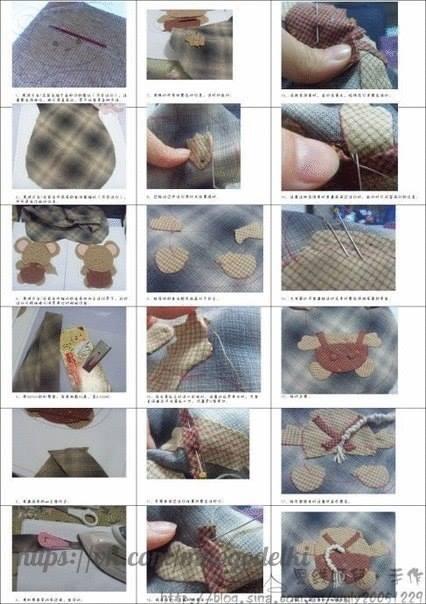 szmaciana torebka dla dziewczynki tutorial