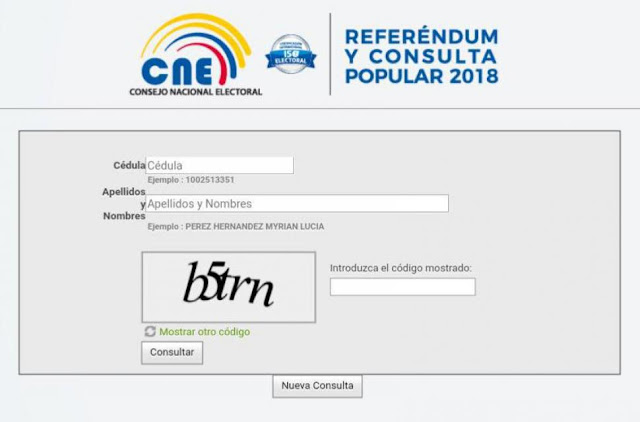 lugar de votación de la Consulta Popular