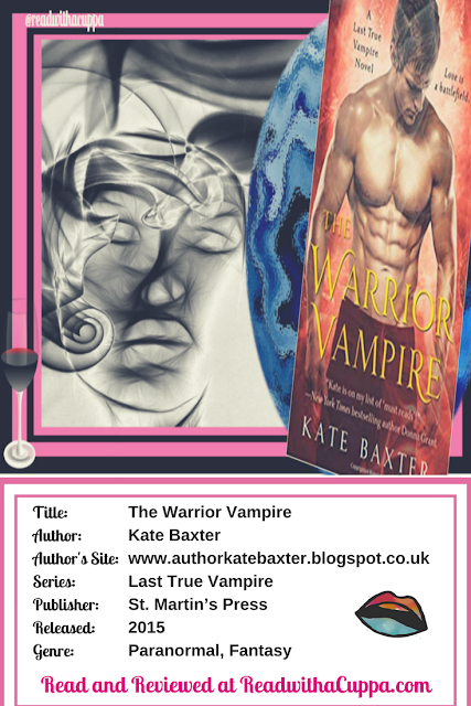 Read the book review for The Warrior Vampire by Kate Baxter at https://www.readwithacuppa.com/2018/08/book-review-warrior-vampire-kate-baxter.html