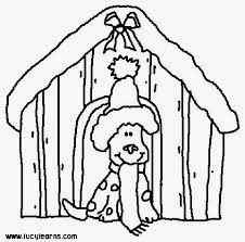 Christmas Puppy Coloring Pages 5