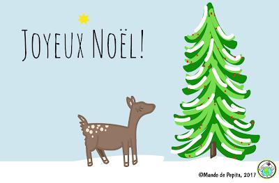 French Christmas E Card