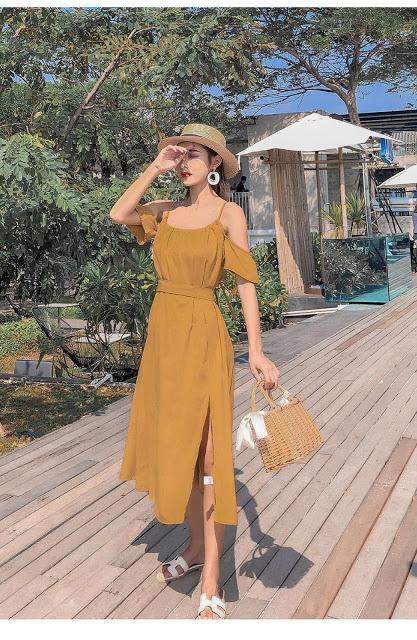 Shop ban vay maxi di bien tai Ha Dinh