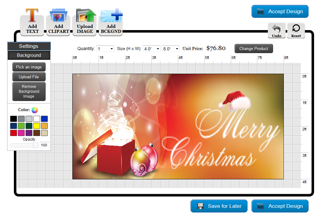 Christmas Banner Design in the Banners.com Online Designer