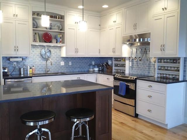 Dapur Sederhana Bernuansa Biru