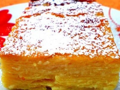 Recette Gâteau invisible pomme-poire