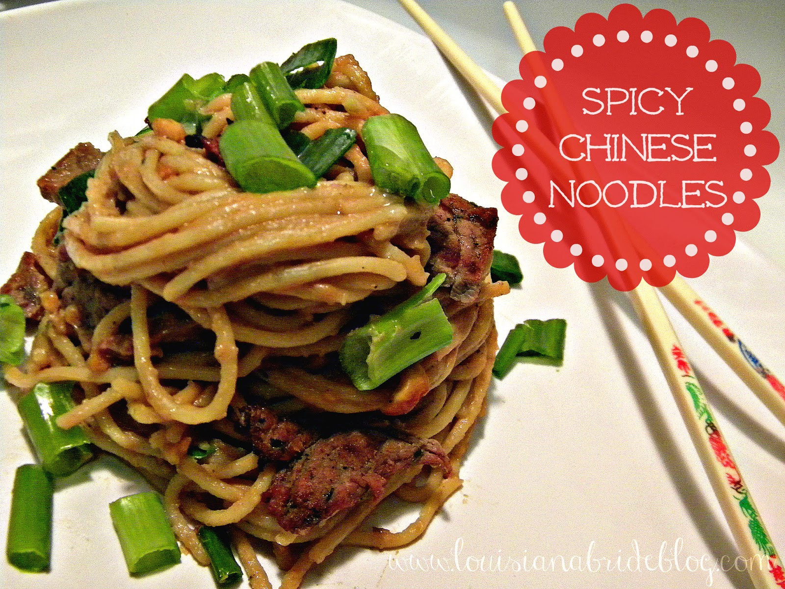 Spicy Chinese Noodles with Asian Beef