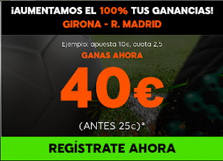 888sport aumento 100% beneficios Girona vs Real Madrid
