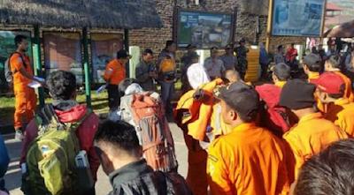 Tim Gabungan Berhasil Mengevakuasi 543 Pendaki Gunung Rinjani