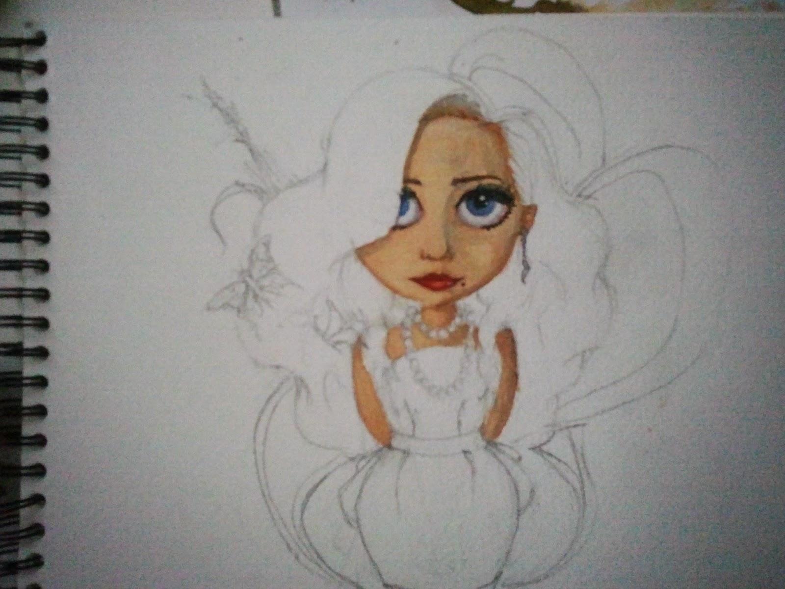 aquarelle, femme, fleur, illustration woohzoolyn
